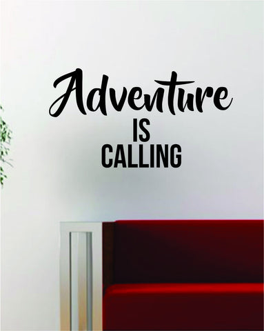 Adventure is Calling Quote Decal Sticker Wall Vinyl Art Decor Home Wanderlust Travel - boop decals - vinyl decal - vinyl sticker - decals - stickers - wall decal - vinyl stickers - vinyl decals