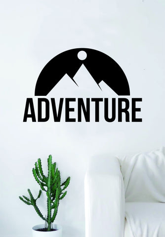 Adventure Mountains Quote Wall Decal Sticker Bedroom Living Room Art Vinyl Beautiful Inspirational Travel Trees Wanderlust