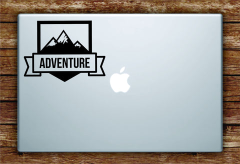 Adventure Mountains Laptop Apple Macbook Quote Wall Decal Sticker Art Vinyl Explore Travel Wanderlust Trees Hike Cute