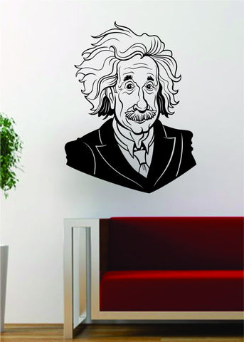 Albert Einstein Science Scientist Decal Sticker Wall Vinyl Art Home Room Decor - boop decals - vinyl decal - vinyl sticker - decals - stickers - wall decal - vinyl stickers - vinyl decals