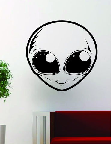 Alien Face UFO Art Outer Space Decal Sticker Wall Vinyl Decor - boop decals - vinyl decal - vinyl sticker - decals - stickers - wall decal - vinyl stickers - vinyl decals