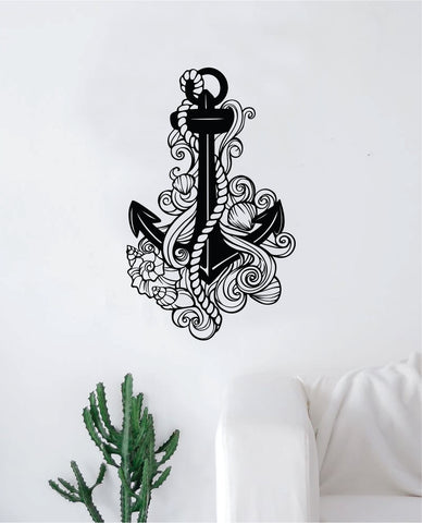 Anchor V9 Decal Sticker Wall Vinyl Art Home Decor Teen Inspirational Ocean Beach Boat Nautical Adventure Travel
