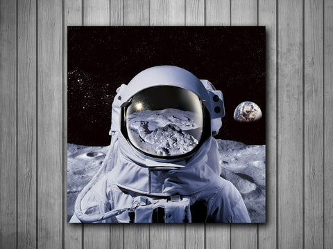Astronaut in Space Art Background Photo Panel - Durable Finish - High Definition - High Gloss - boop decals - vinyl decal - vinyl sticker - decals - stickers - wall decal - vinyl stickers - vinyl decals
