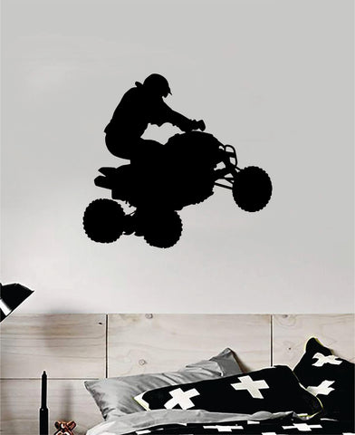ATV Quad 4 Wheeler Sports Decal Sticker Bedroom Room Wall Vinyl Art Home Decor Teen Sports Moto X Rider Biker Race Dirtbike