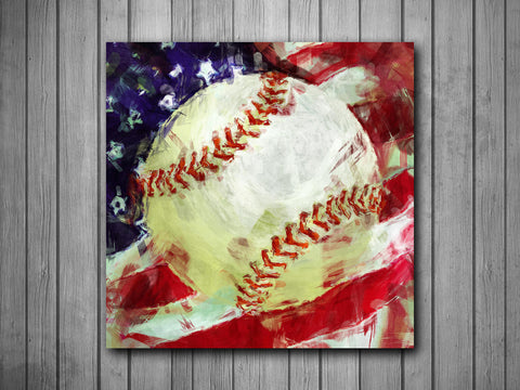 Baseball Painting Art Background Photo Panel - Durable Finish - High Definition - High Gloss - boop decals - vinyl decal - vinyl sticker - decals - stickers - wall decal - vinyl stickers - vinyl decals