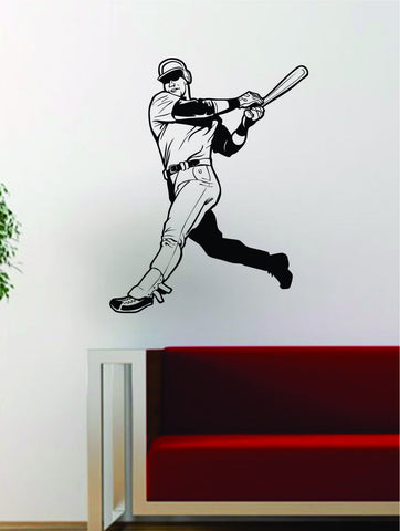 Baseball Player v6 Batter Home Run Decal Wall Vinyl Art Sticker Sports Decor Room MLB - boop decals - vinyl decal - vinyl sticker - decals - stickers - wall decal - vinyl stickers - vinyl decals