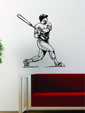 Baseball Player v7 Batter Home Run Decal Wall Vinyl Art Sticker Sports Decor Room MLB - boop decals - vinyl decal - vinyl sticker - decals - stickers - wall decal - vinyl stickers - vinyl decals