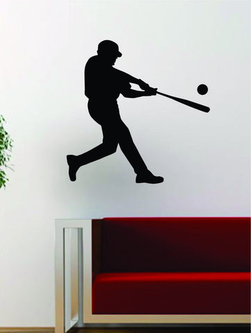 Baseball Player v8 Batter Home Run Decal Wall Vinyl Art Sticker Sports Decor Room MLB - boop decals - vinyl decal - vinyl sticker - decals - stickers - wall decal - vinyl stickers - vinyl decals