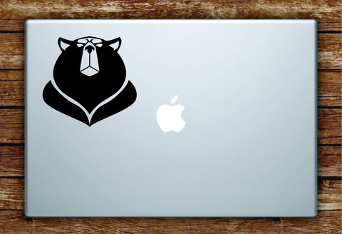 Bear Face Laptop Apple Macbook Quote Wall Decal Sticker Art Vinyl Animal Grizzly
