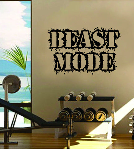 Beast Mode Gym Fitness Quote Weights Health Design Decal Sticker Wall Vinyl Art Decor Home - boop decals - vinyl decal - vinyl sticker - decals - stickers - wall decal - vinyl stickers - vinyl decals