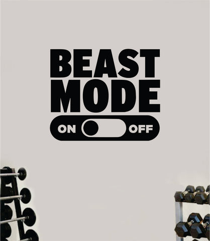 Beast Mode On V3 Wall Decal Home Decor Bedroom Room Vinyl Sticker Art Teen Work Out Quote Beast Gym Fitness Lift Strong Inspirational Motivational Health School
