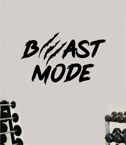 Beast Mode V5 Wall Decal Home Decor Bedroom Room Vinyl Sticker Art Teen Work Out Quote Gym Fitness Lift Strong Inspirational Motivational Health