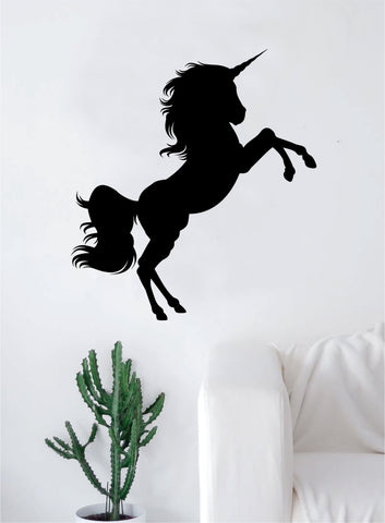 Beautiful Unicorn Silhouette Animal Design Decal Sticker Wall Vinyl Decor Art Living Room Bedroom Abstract Cool Teen Magical Horse