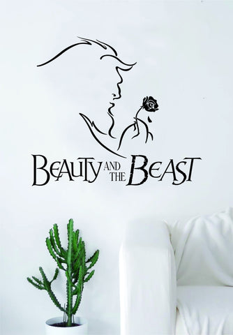 Beauty and the Beast Decal Wall Vinyl Art Decor Bedroom Living Room Decor Movies Teen Girls Disney Nursery
