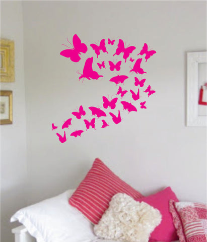 Butterflys V2 Quote Wall Decal Sticker Decor Vinyl Art Bedroom Teen Baby Boy Girl Pink Butterflies
