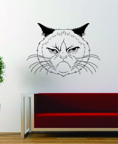 Cat Face V1 Funny Decal Sticker Wall Vinyl Art Home Room Decor Decoration Animal Pet Teen Kitten Kitty