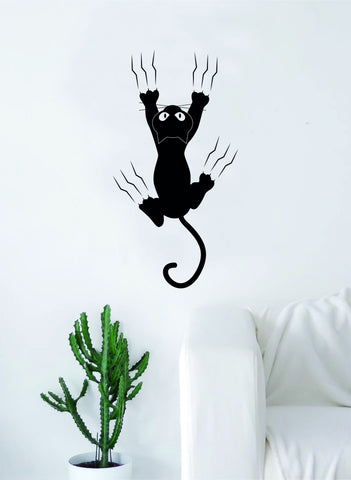 Cat on the Wall Scratch Funny Decal Sticker Wall Vinyl Art Home Room Decor Cute Animal Pet Teen Kitten Kitty