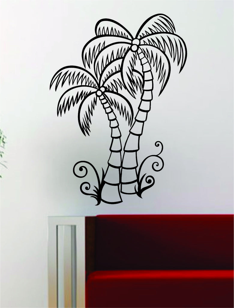 Coconut Palm Trees Decal Wall Vinyl Art Decor Room Beautiful Nature  sc 1 st  Boop Decals - Shopify & Coconut Palm Trees Decal Wall Vinyl Art Decor Room Beautiful Nature ...