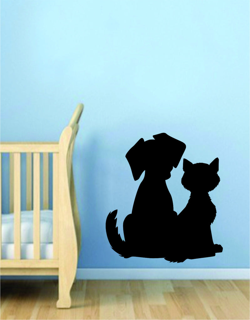 Dog and Cat Silhouette Wall Decal Sticker Room Art Vinyl Beautiful Animal Shelter Pet Rescue Vet & Dog and Cat Silhouette Wall Decal Sticker Room Art Vinyl Beautiful ...