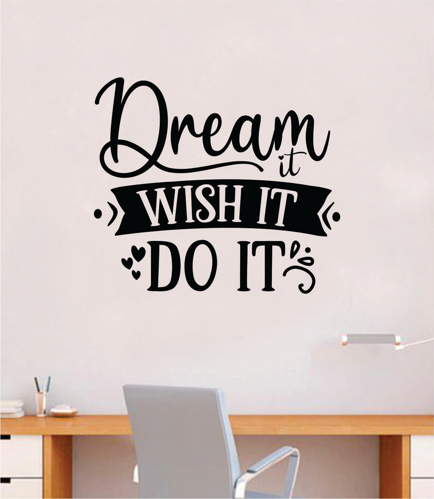 Dreams are wishes Wall Art Sticker inspirational quote