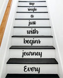 Every Journey Stairs V3 Wall Decal Home Decor Vinyl Sticker Art Quote Inspirational Family Love Cute
