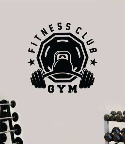 Fitness Club Gym Quote Health Work Out Decal Sticker Vinyl Art Wall Room Decor Teen Motivation Inspirational Girls Lift