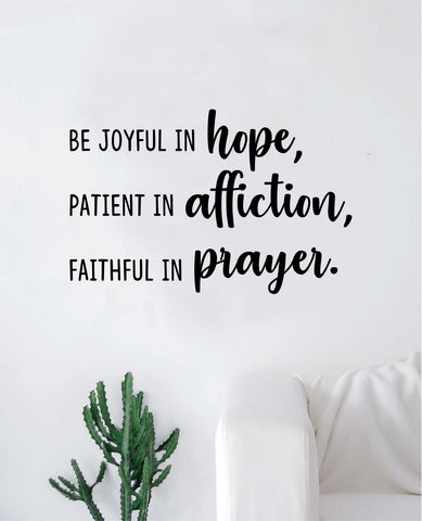 Hope Affiction Prayer Quote Wall Decal Sticker Bedroom Home Room Art Vinyl Inspirational Motivational Teen Decor Religious Bible Verse Blessed Spiritual God