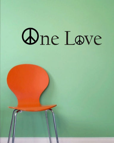 Bob Marley One Love Version 1 Decal Quote Sticker Wall Vinyl Art Decor - boop decals - vinyl decal - vinyl sticker - decals - stickers - wall decal - vinyl stickers - vinyl decals