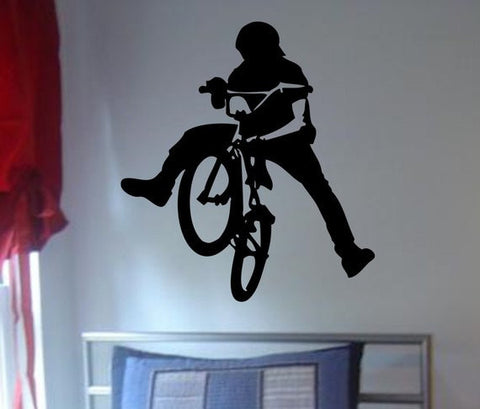 BMX Biker Version 3 Design Sports Decal Sticker Wall Vinyl - boop decals - vinyl decal - vinyl sticker - decals - stickers - wall decal - vinyl stickers - vinyl decals