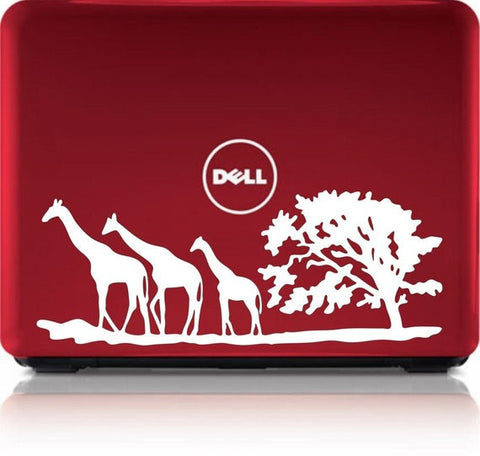 3 Giraffes Safari Tree Laptop Decal Sticker Wall Vinyl Art Design - boop decals - vinyl decal - vinyl sticker - decals - stickers - wall decal - vinyl stickers - vinyl decals