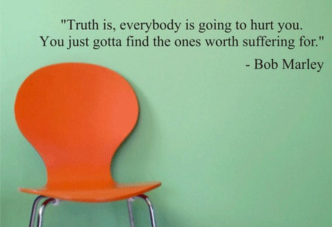 Bob Marley Find the Ones Worth Suffering For Decal Quote Sticker Wall Vinyl Art Decor - boop decals - vinyl decal - vinyl sticker - decals - stickers - wall decal - vinyl stickers - vinyl decals