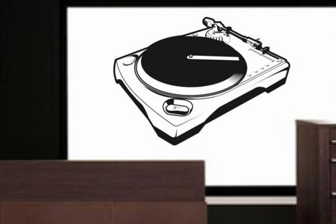 DJ Turntable Music Art Decal Sticker Wall Vinyl - boop decals - vinyl decal - vinyl sticker - decals - stickers - wall decal - vinyl stickers - vinyl decals