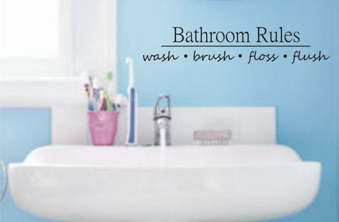 Bathroom Rules Quote Decal Sticker Wall Vinyl Decor Art - boop decals - vinyl decal - vinyl sticker - decals - stickers - wall decal - vinyl stickers - vinyl decals