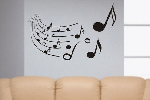 Music Notes Version 3 Art Decal Sticker Wall Vinyl - boop decals - vinyl decal - vinyl sticker - decals - stickers - wall decal - vinyl stickers - vinyl decals