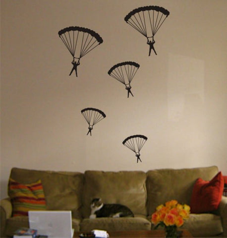 5 Parachuters Design Sports Decal Sticker Wall Vinyl Art Decor Home - boop decals - vinyl decal - vinyl sticker - decals - stickers - wall decal - vinyl stickers - vinyl decals