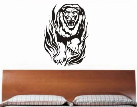 Lion Design Animal Decal Sticker Wall Vinyl Decor Art
