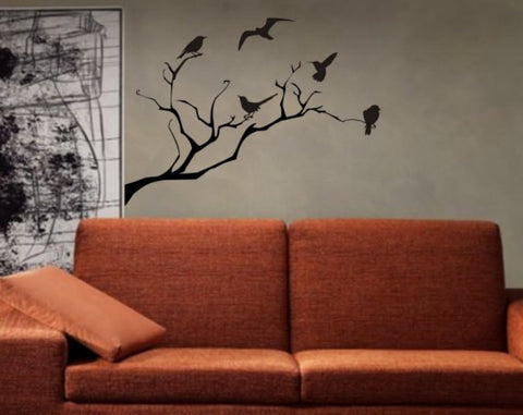 Birds and Tree Branch Nature Decal Sticker Wall Vinyl Art Home Room Decor - boop decals - vinyl decal - vinyl sticker - decals - stickers - wall decal - vinyl stickers - vinyl decals