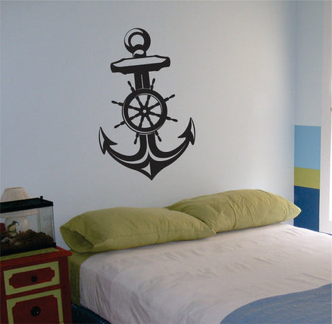 Anchor Version 1 Nautical Ocean Beach Decal Sticker Wall Vinyl Art Decor - boop decals - vinyl decal - vinyl sticker - decals - stickers - wall decal - vinyl stickers - vinyl decals