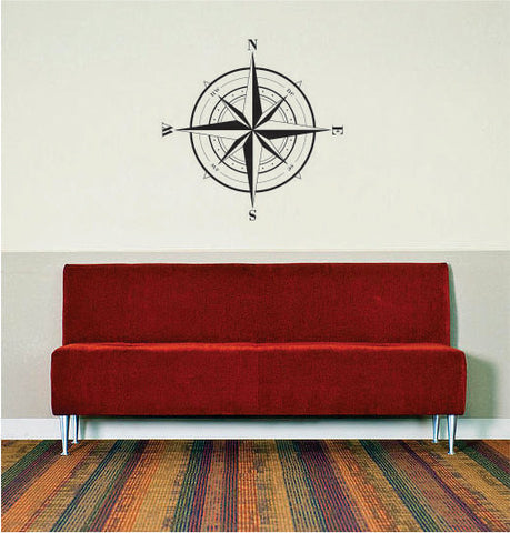 Compass Rose Version 1 Nautical Decal Sticker Wall Vinyl Art - boop decals - vinyl decal - vinyl sticker - decals - stickers - wall decal - vinyl stickers - vinyl decals