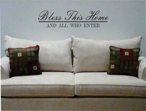 Bless This Home Quote Decal Sticker Wall Vinyl Decor Art - boop decals - vinyl decal - vinyl sticker - decals - stickers - wall decal - vinyl stickers - vinyl decals