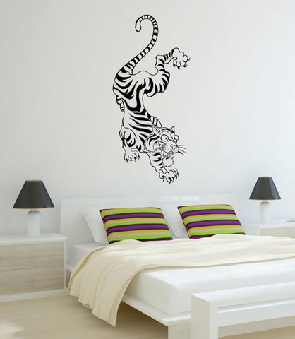 Tiger Climbing Down Wall Design Animal Decal Sticker Wall Vinyl Decor Art - boop decals - vinyl decal - vinyl sticker - decals - stickers - wall decal - vinyl stickers - vinyl decals