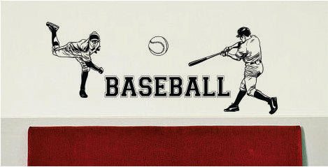 Baseball Batter and Pitcher Quote Sports Decal Sticker Wall Vinyl - boop decals - vinyl decal - vinyl sticker - decals - stickers - wall decal - vinyl stickers - vinyl decals