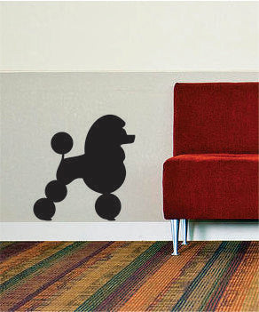 Poodle Silhouette Design Animal Decal Sticker Wall Vinyl Decor Art