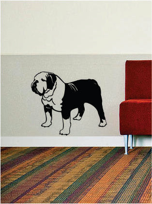 Bulldog Dog Design Animal Decal Sticker Wall Vinyl Decor Art - boop decals - vinyl decal - vinyl sticker - decals - stickers - wall decal - vinyl stickers - vinyl decals