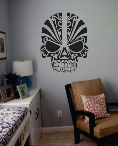 Tribal Skull Art Decal Sticker Wall Vinyl - boop decals - vinyl decal - vinyl sticker - decals - stickers - wall decal - vinyl stickers - vinyl decals