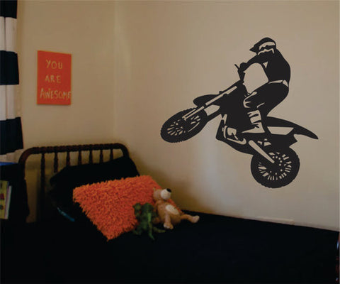 Dirtbiker Version 1 Motocross Design Sports Decal Sticker Wall Vinyl - boop decals - vinyl decal - vinyl sticker - decals - stickers - wall decal - vinyl stickers - vinyl decals