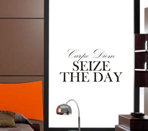 Carpe Diem Seize the Day Inspirational Quote Decal Sticker Wall Vinyl Decor Art - boop decals - vinyl decal - vinyl sticker - decals - stickers - wall decal - vinyl stickers - vinyl decals