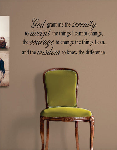 God Grant Me the Serenity Quote Decal Sticker Wall Vinyl Decor Art - boop decals - vinyl decal - vinyl sticker - decals - stickers - wall decal - vinyl stickers - vinyl decals