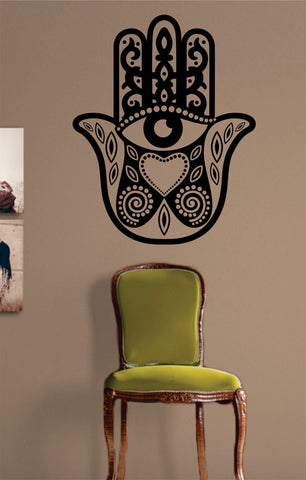 Hamsa Hand Version 1 Design Decal Sticker Wall Vinyl Decor Art - boop decals - vinyl decal - vinyl sticker - decals - stickers - wall decal - vinyl stickers - vinyl decals