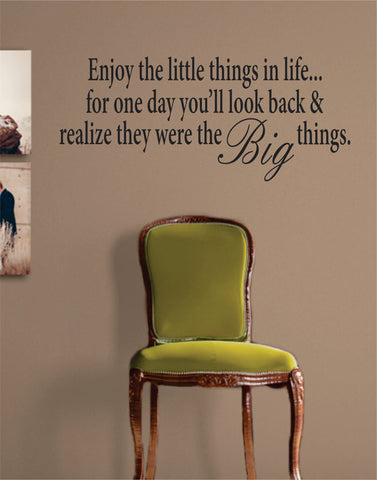 Enjoy the Little Things in Life Inspirational Quote Decal Sticker Wall Vinyl Decor Art - boop decals - vinyl decal - vinyl sticker - decals - stickers - wall decal - vinyl stickers - vinyl decals